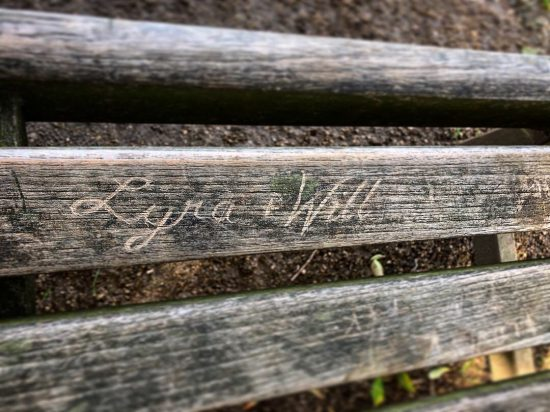 Lyra and Will In Scription on Bench in Oxford from His Dark Materials - www.foodnerd4life.com