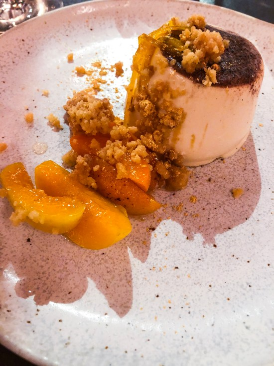 Cinnamon and Brown Sugar Pannacotta with Apricots and Candied Orange at Box-E Bristol - www.foodnerd4life.com