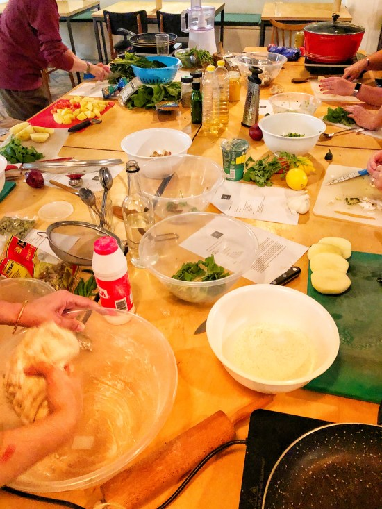 Cooking Station at Pakistani Cooking Course with Migrateful www.foodnerd4life.com