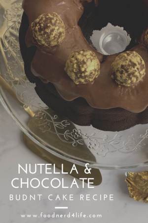 Top View Nutella & Chocolate Bundt Cake Pin