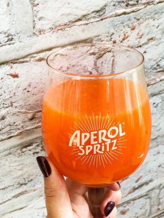 Close Up of Aperol Spritz Jelly - www.foodnerd4life.com