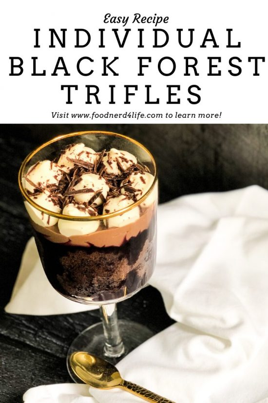 Black Forest Trifle Recipe Pin