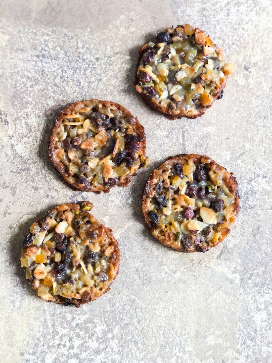 Top View of Salted Caramal Florentines - www.foodnerd4life.com