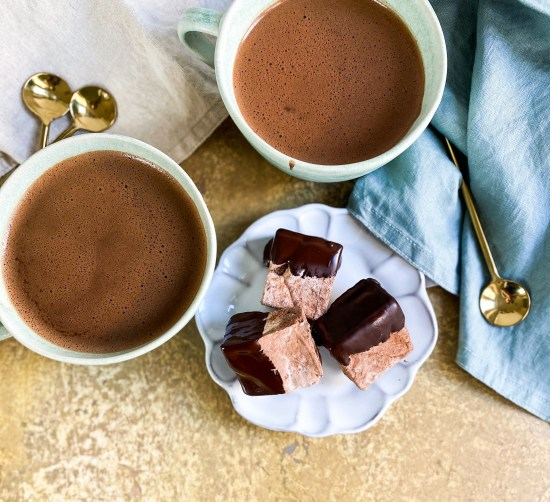 Chocolate Orange Marshmallows Recipe with Hot Chocolate - www.foodnerd4life.com