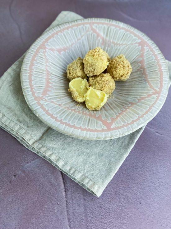 Inside of Tarte au Citron Truffles - www.foodnerd4life.com