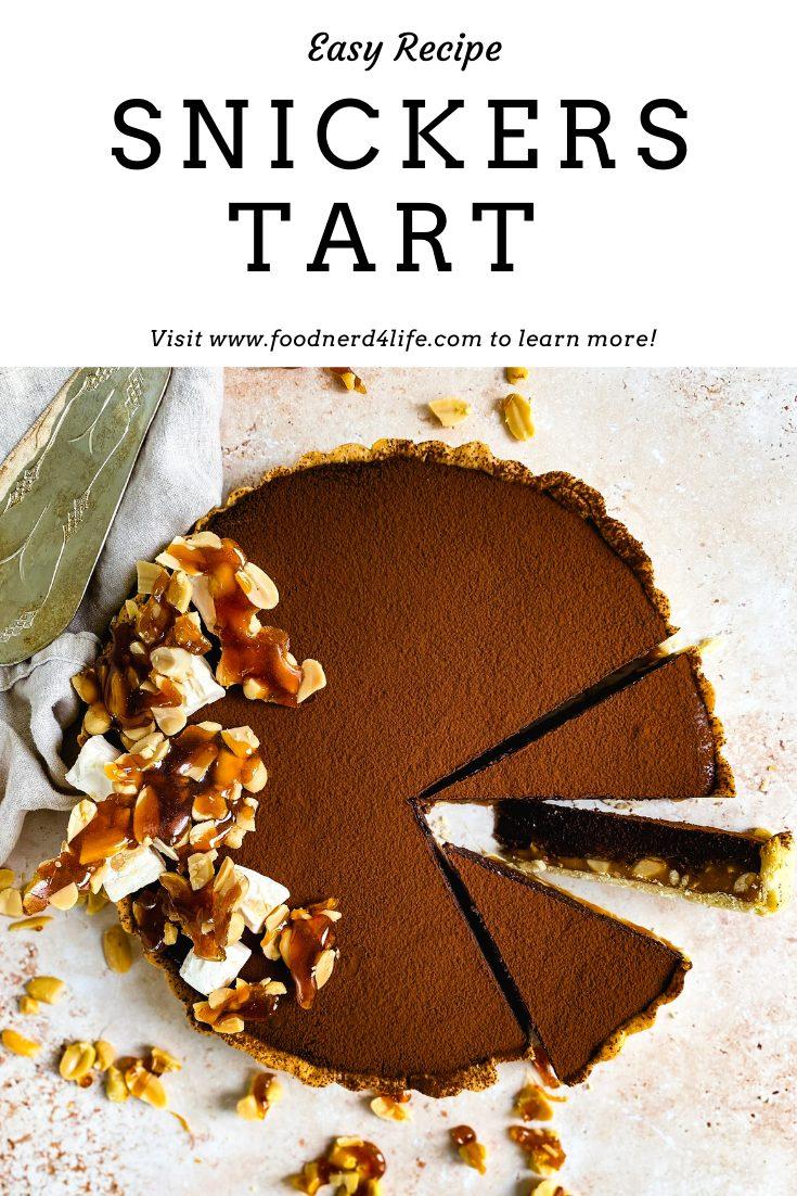 Snickers Tart Recipe Pin