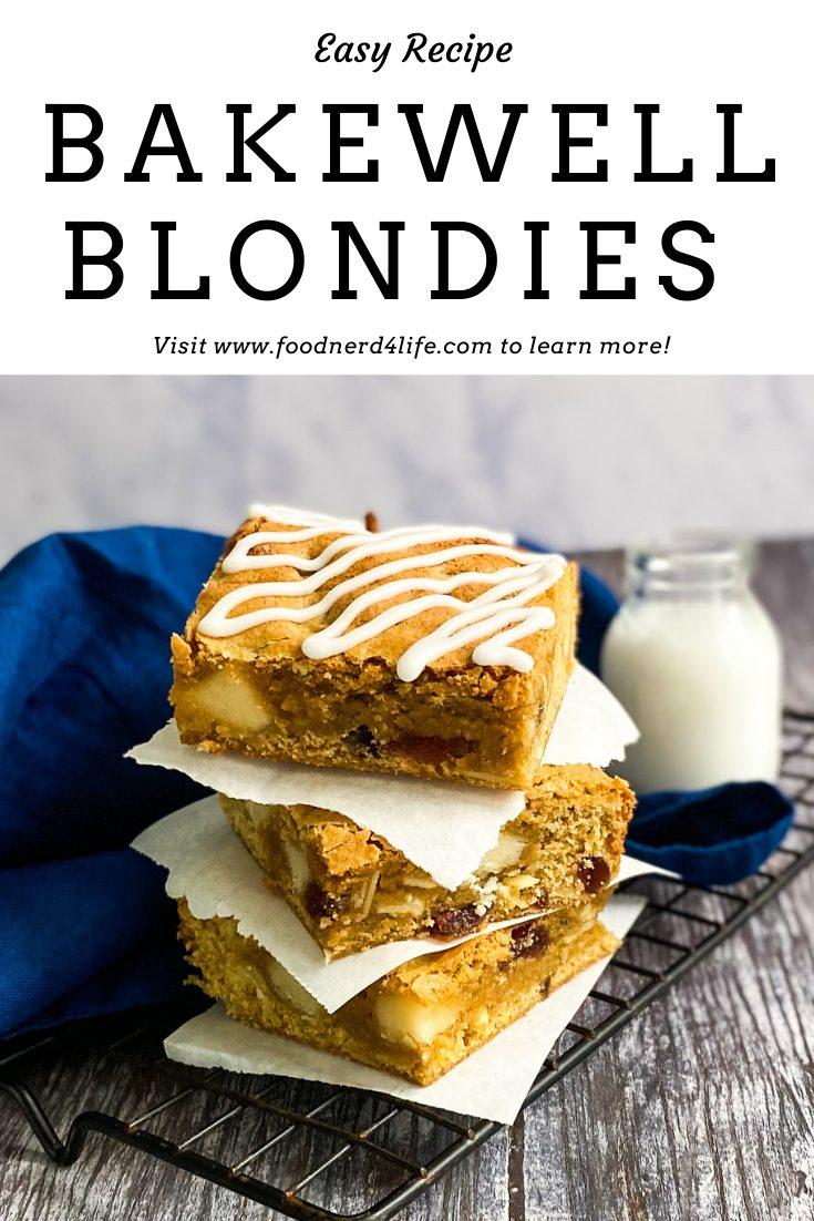 Bakewell Blondies Recipe Pin