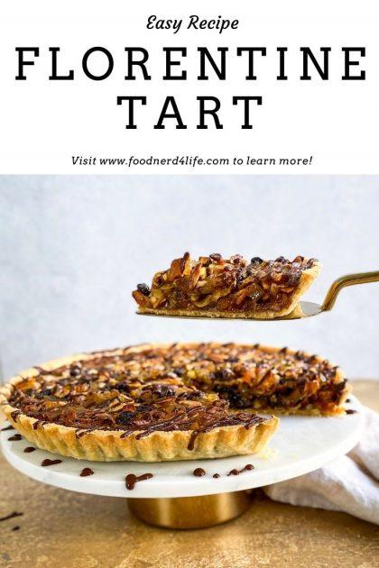 Florentine Tart Recipe Pin - www.foodnerd4life.com