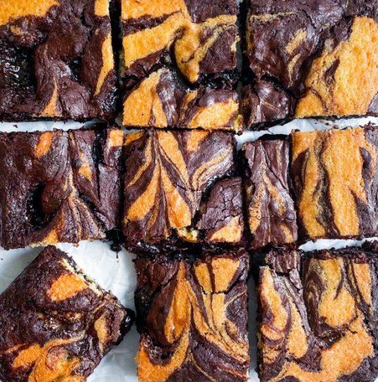 Jaffa Cake Brownies Recipe - www.foodnerd4life.com
