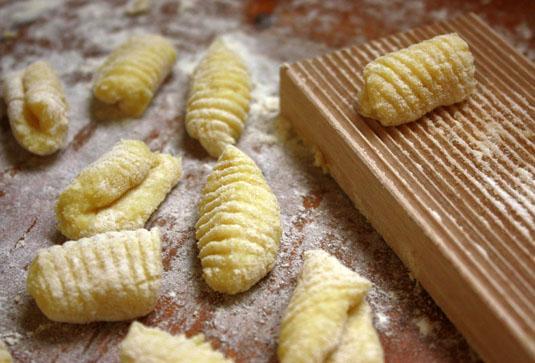 Homemade classic gnocchi