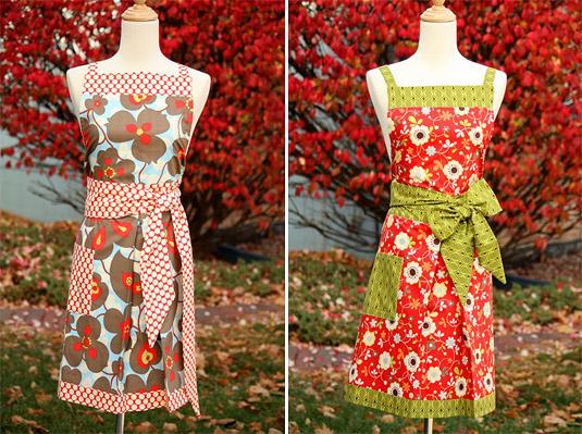 Full Apron Made w/ Colorful Designer Fabrics (by Gourmet Threadz)
