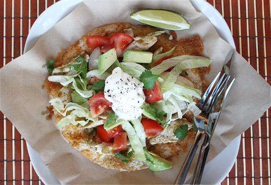 Chicken Tostadas with Salsa Verde