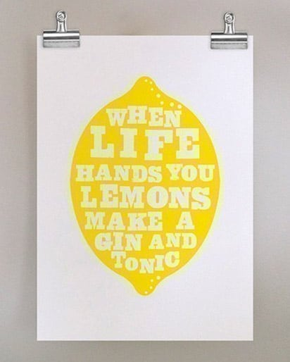 """""""When Life Hands You Lemons"""" Poster (By Dear Colleen)"""