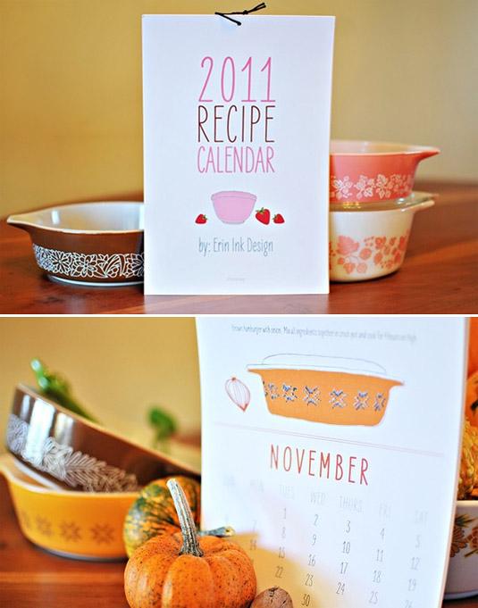 2011 Erin Ink Recipe Calendar