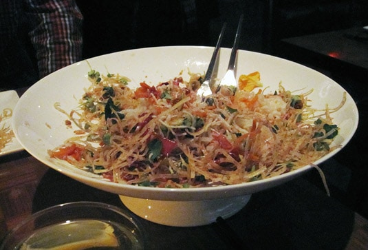 Susur Lee's Singapore Slaw, a split second after it was brought to our table