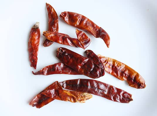 Dried Long Red Chilies