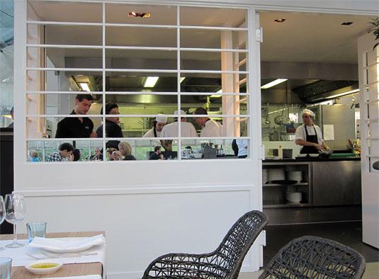 DeKas, Amsterdam: Open kitchen.