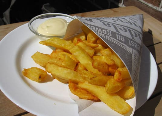 """Fancier"" fries in Zaanse Schans, outside Amsterdam."