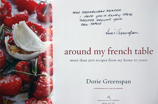 GIVEAWAY: Win a signed copy of Dorie Greenspan's Around My French Table