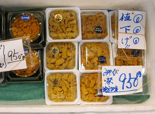 Drooling over gorgeous uni (sea urchin) at Tokyo's Tsukiji Fish Market