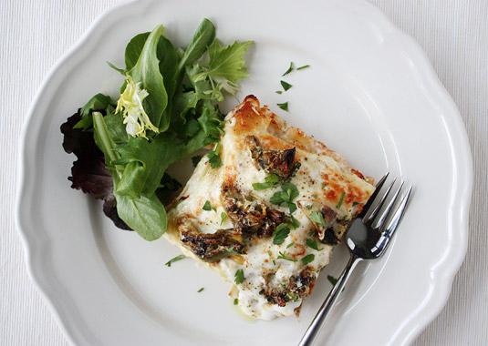 Artichoke and Prosciutto Lasagna (and How to Prepare Artichokes)