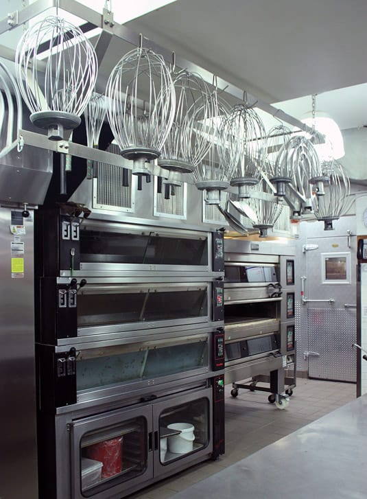 Chef François Payard's small New York kitchen, where all the sweets shipped to Vegas, Japan and Korea and made.