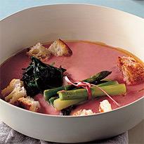 Sweet and Sour Rhubarb Soup by La Cucina Italiana