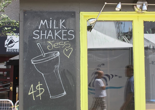 Milk shakes at Just For Laughs' Souk in Montreal / FoodNouveau.com
