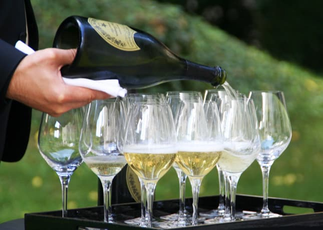 According to Cellar Master Richard Geoffrey, Dom Pérignon champagne is best served in wide glasses. // FoodNouveau.com