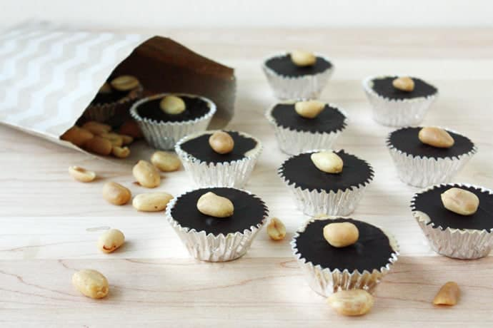 Homemade Peanut Butter Cups with Bourbon