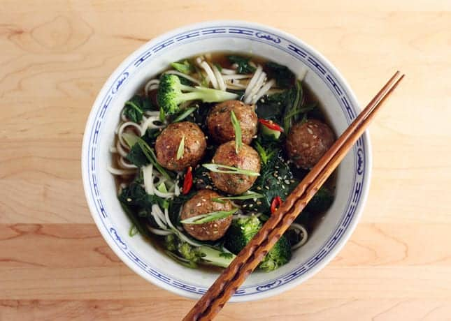 Ginger, Sesame and Coriander Meatballs // FoodNouveau.com