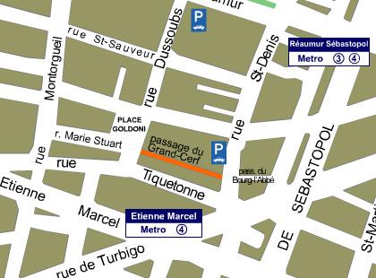 Where to find Le Passage du Grand Cerf, a shopping arcade in Paris. Map (c) Passage du Grand Cerf. // FoodNouveau.com
