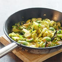 Sauteed Brussels Sprouts, Annalise Sandberg's favorite dish in Salt Lake City (Photo by Jules Clancy) // FoodNouveau.com