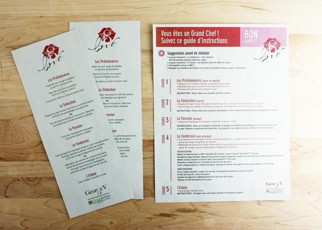 The menus and preparation instructions for Hôtel Château Laurier's gastronomic take-out menu // FoodNouveau.com