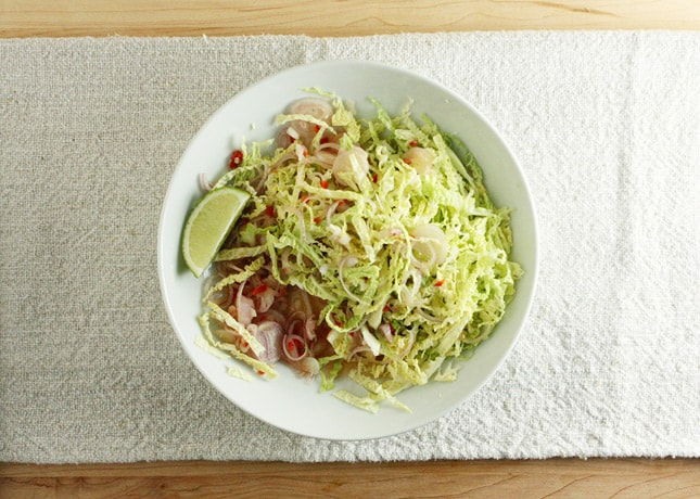 Everyday Cabbage-Shallot Refresher, a dish from Burma: Rivers of Flavor by Naomi Duguid // FoodNouveau.com
