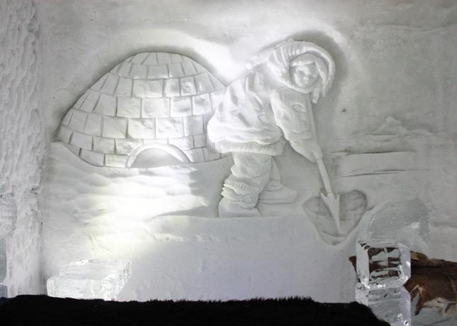 Ice Hotel, Quebec City: Carving Detail // FoodNouveau.com