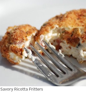 Savory Ricotta Fritters by Amy McCoy // FoodNouveau.com