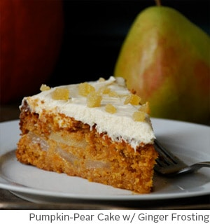 Pumpkin-Pear Cake with Ginger Frosting by Amy McCoy // FoodNouveau.com