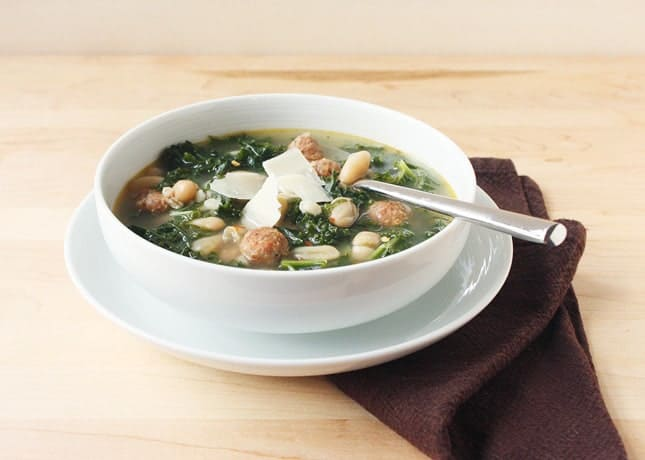 Kale, Sausage, and White Beans Soup // FoodNouveau.com