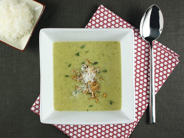 Roasted Potato and Leek Soup with Arugula and Crispy Shallots // FoodNouveau.com
