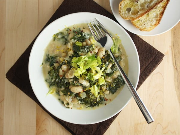 Creamy White Bean and Kale Risotto-Style Stew