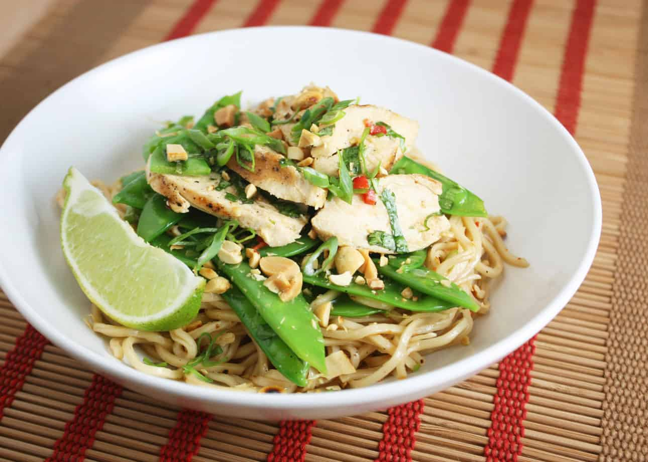 Thai Chicken Salad with Sesame Noodles