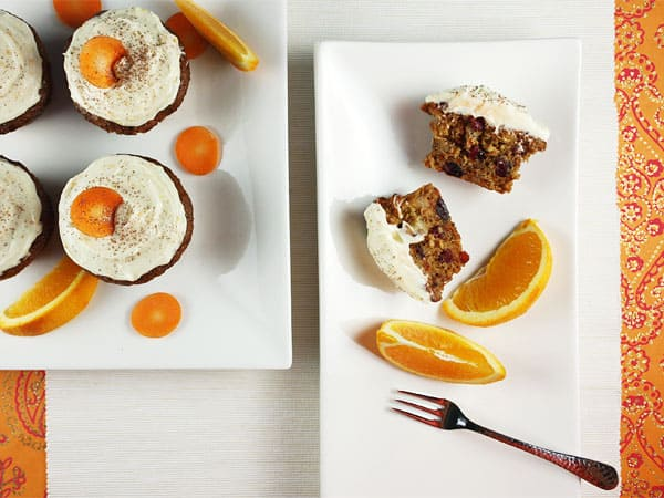 Carrot Cupcakes with Citrus Cream Cheese Icing // FoodNouveau.com