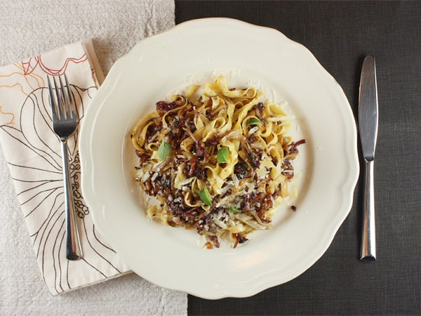 Radicchio with Pappardelle // FoodNouveau.com