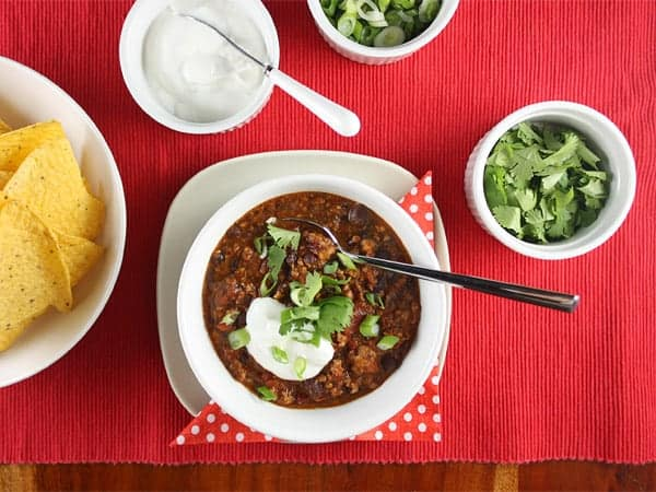 Mexican Black Bean Turkey Sausage Chili