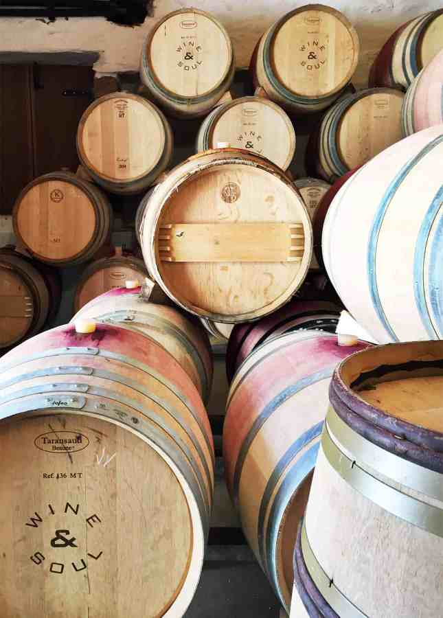Barrels of wine aging at the Wine & Soul winery, Douro Valley, Portugal // FoodNouveau.com