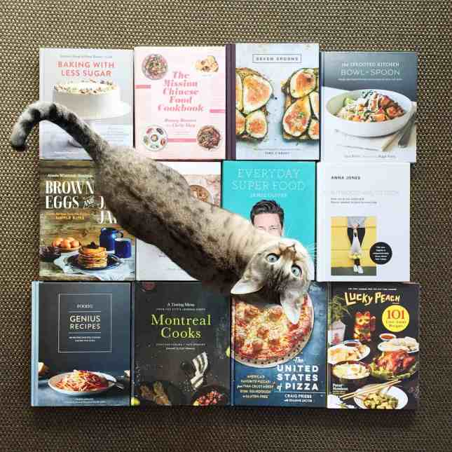 In a cooking rut? Enter this huge cookbook giveaway: You could win one of twelve of the best cookbooks from 2015 (Kitty not included!) // FoodNouveau.com