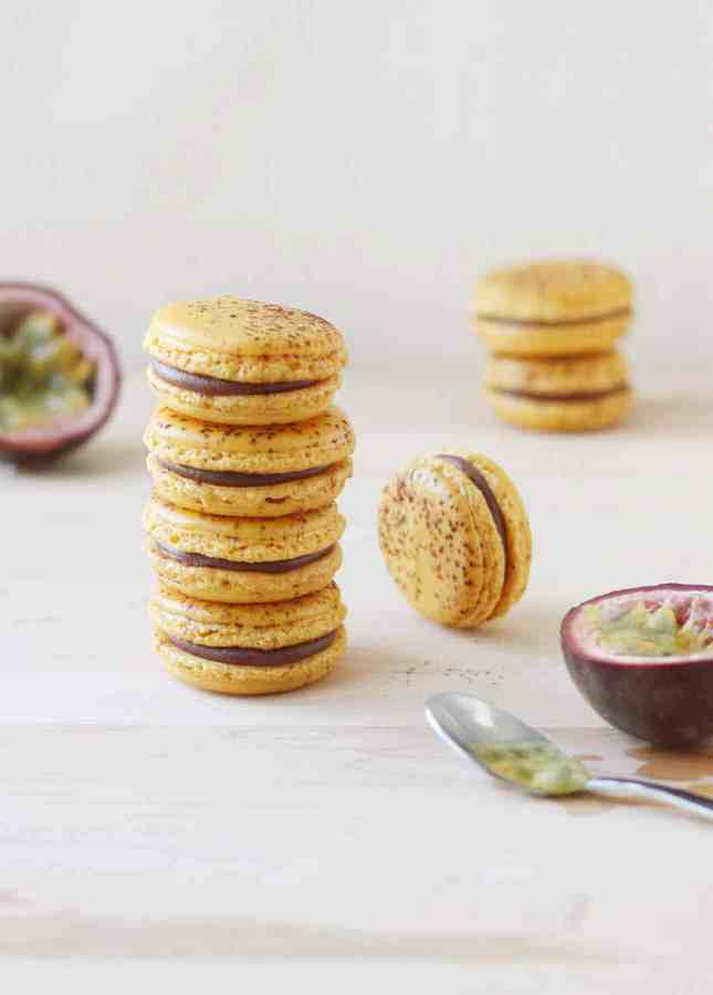 Milk Chocolate Passion Fruit Macarons // FoodNouveau.com