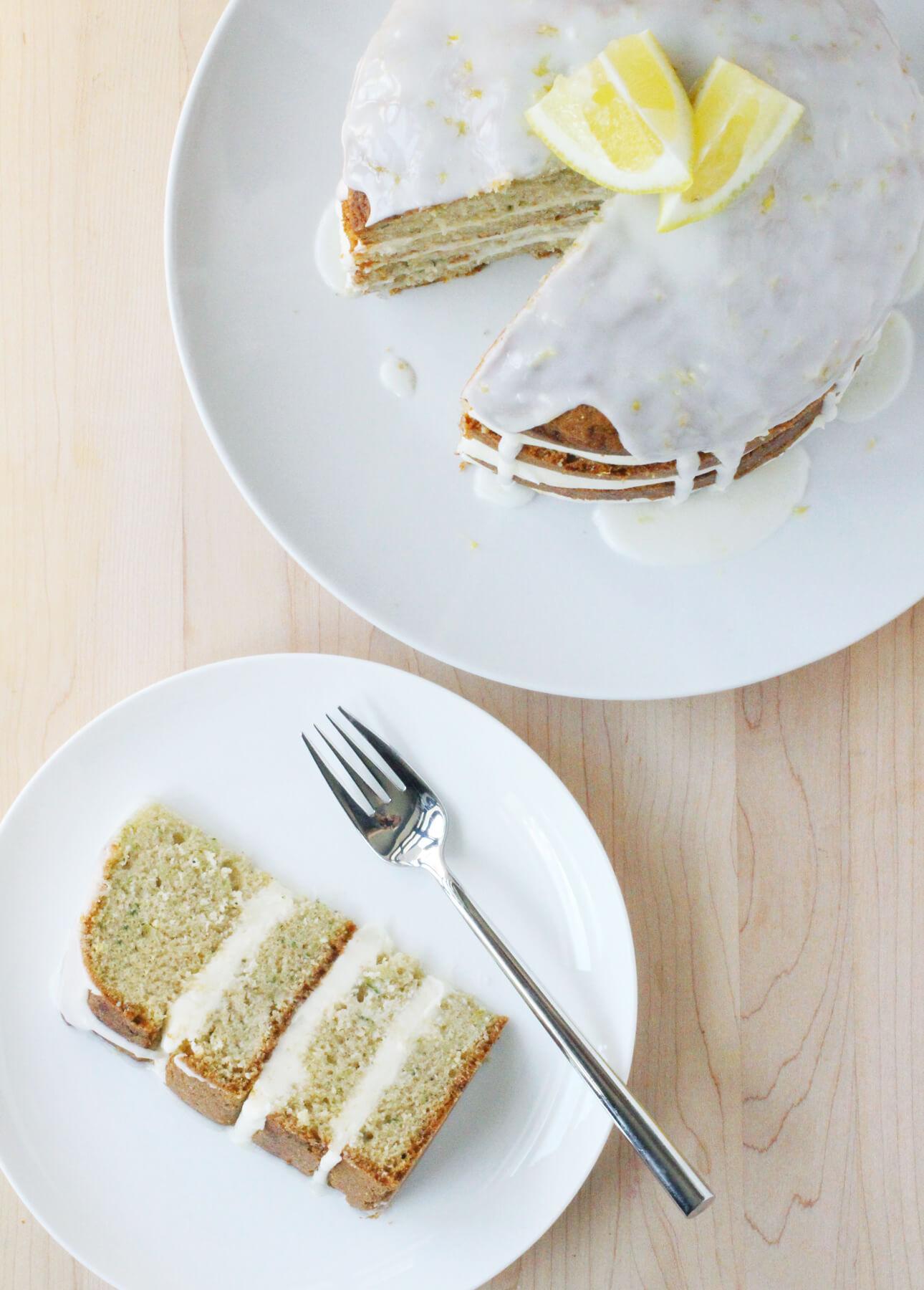 A Spectacular Lemony Zucchini Cake