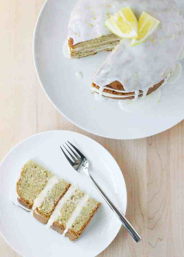 A Spectacular Lemony Zucchini Cake, a recipe from the book Layered bu Tessa Huff // FoodNouveau.com
